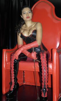 classic fetish boots and gloves